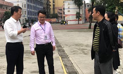 泸县二中外国语学校唐国成校长一行到我校交流指导